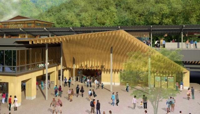 京王高尾山口駅が隈研吾さん設計でリニューアル 日帰り温泉も2015年春に誕生へ