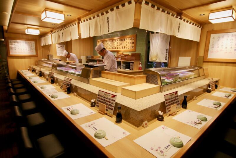 築地日本海 行徳駅前店 寿司カウンター