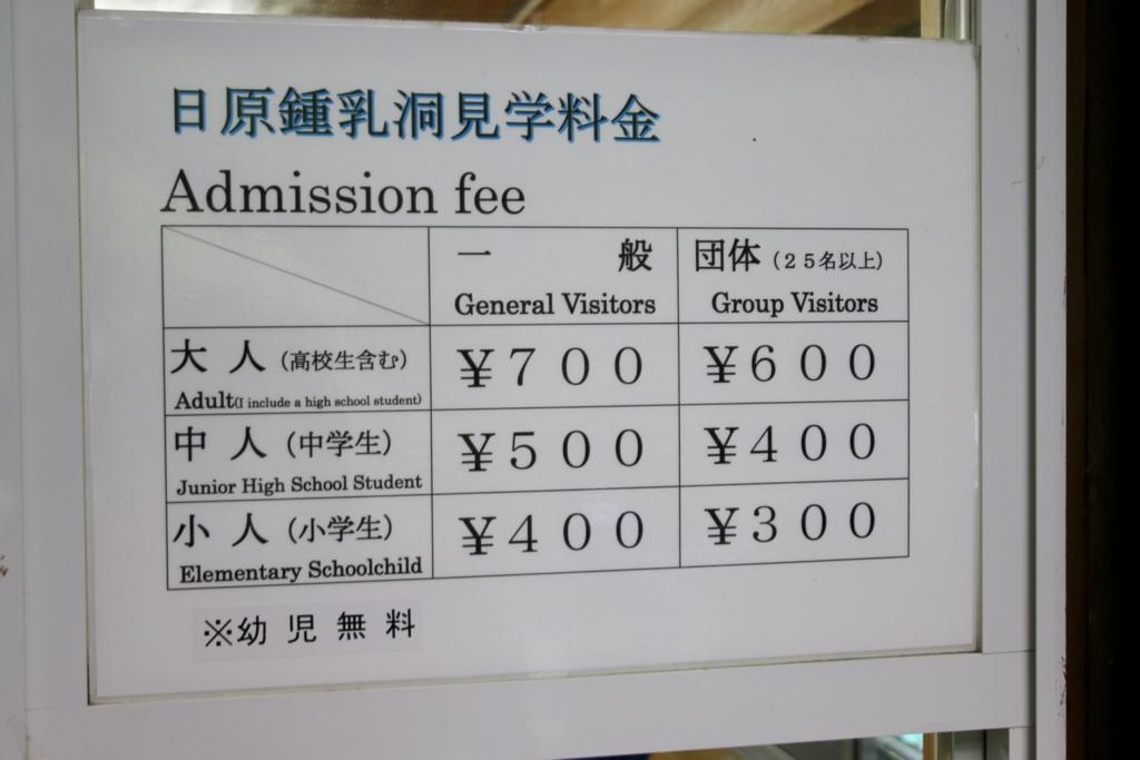 Tour fee for the Hihara cave