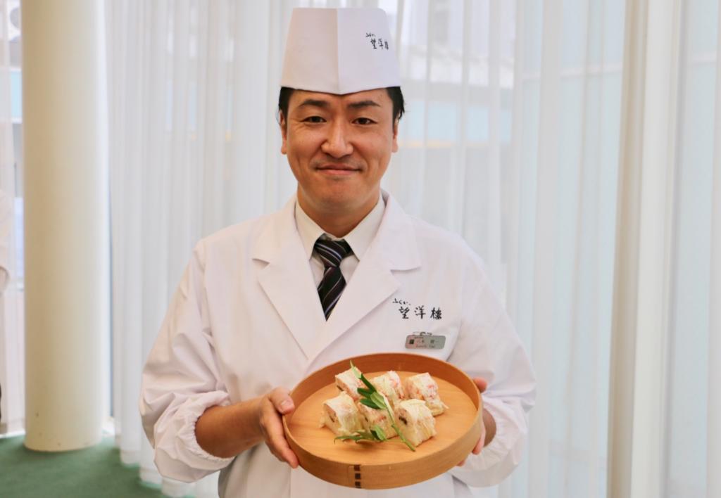 「ふくい、望洋楼」の副料理長、八木健一さん