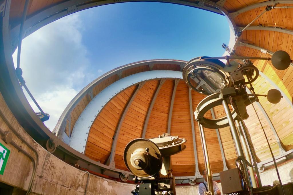 太陽塔望遠鏡(通称:アインシュタイン塔)のシーロスタット