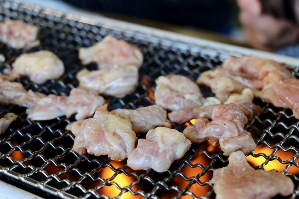 よし兵衛の鶏焼きのせせり(くび)(塩)