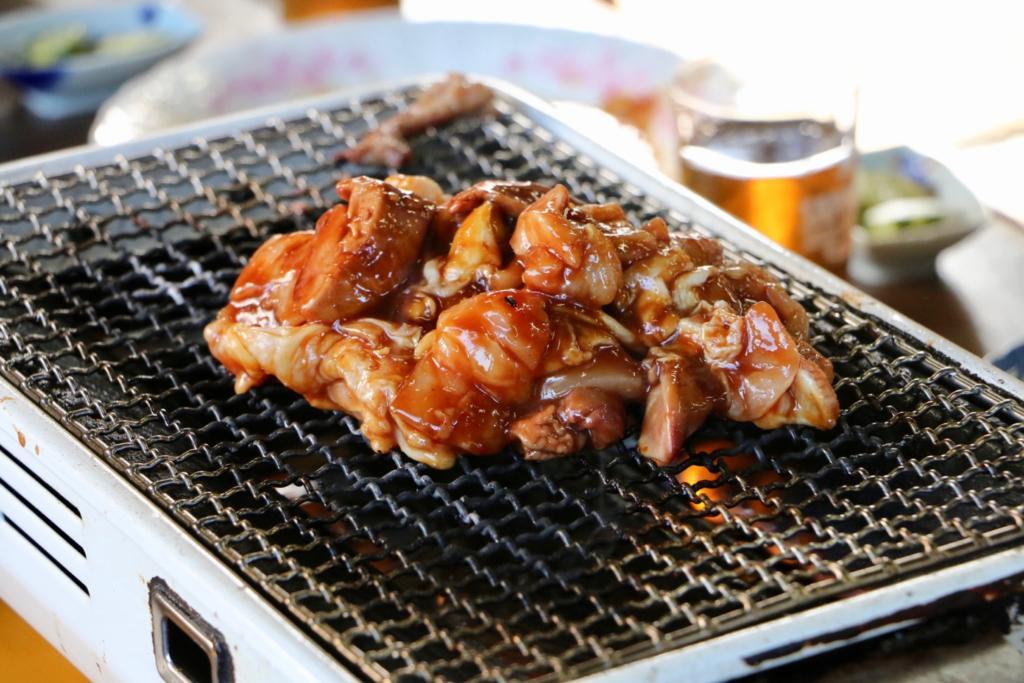 よし兵衛の鶏焼き蒸し焼き(タレ)