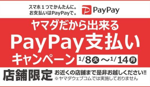 PayPay(ペイペイ)利用キャンペーンが家電量販店でスタート!ヤマダ電機で最大20%還元