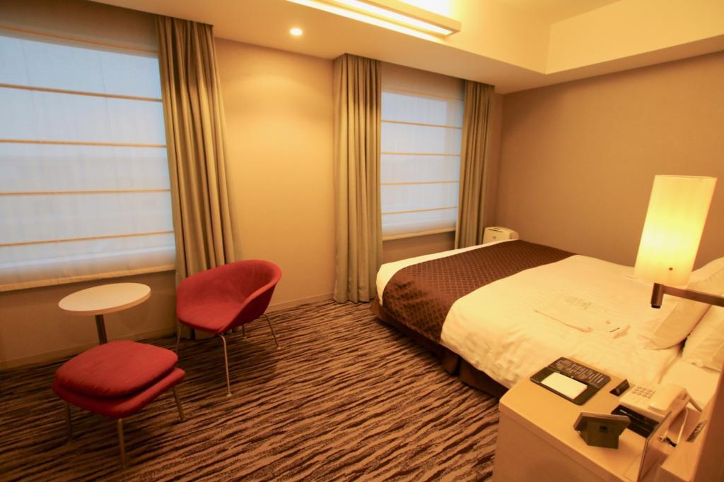 羽田エクセルホテル東急スタンダードダブルのお部屋