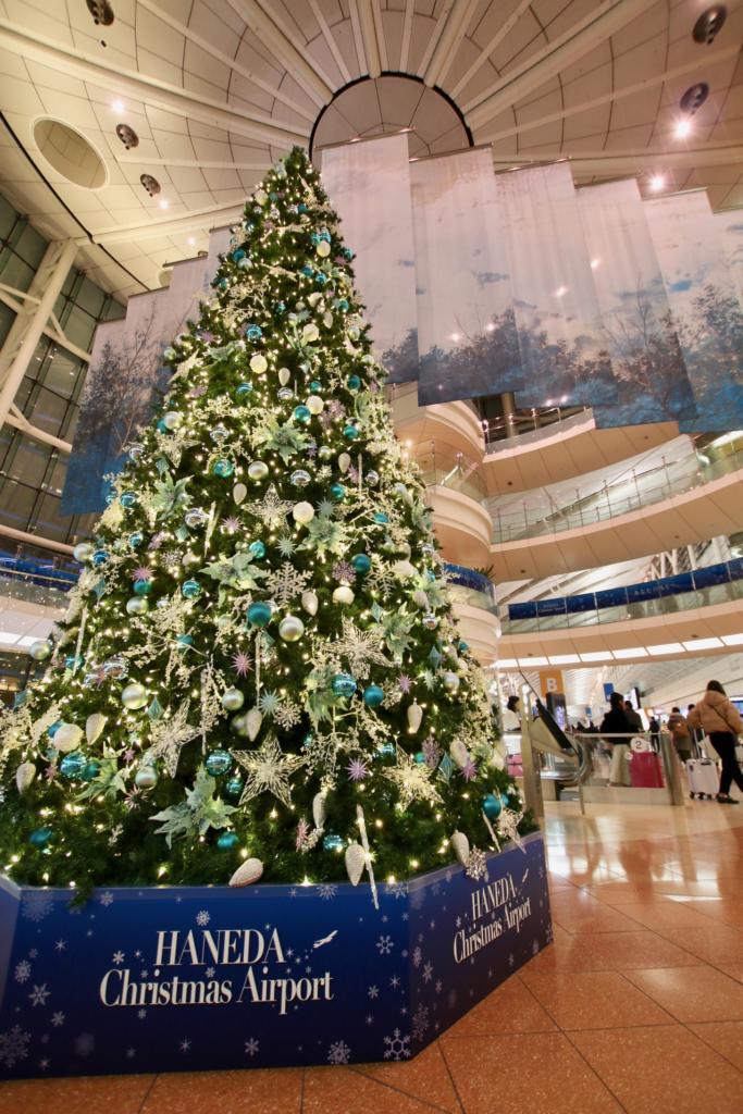羽田空港内のクリスマスツリー
