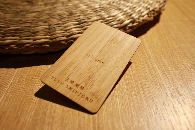 ONSEN RYOKAN 由縁 新宿のカードキーは竹製