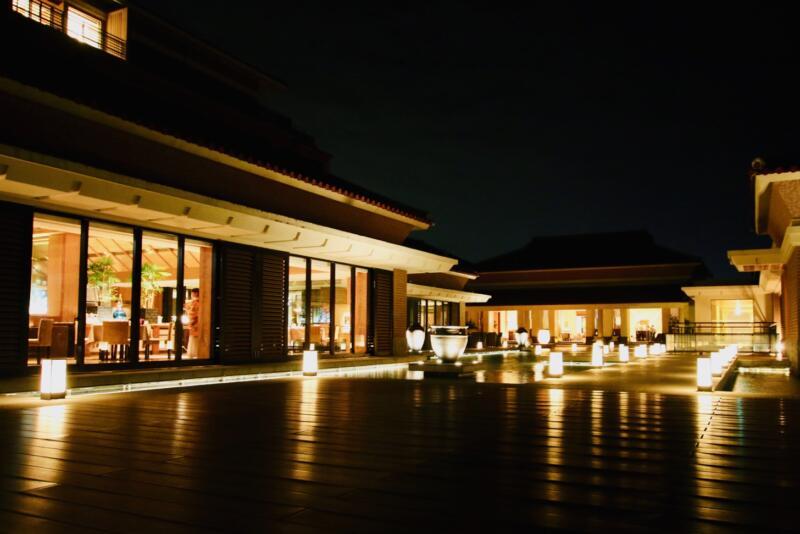ザ・リッツ・カールトン沖縄内を夜さんぽ