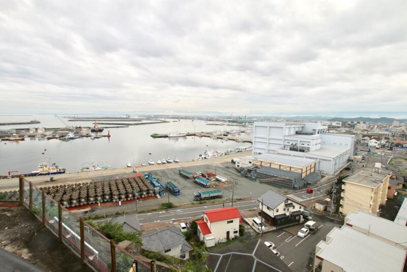 割烹旅館 天地閣のから見る小名浜港