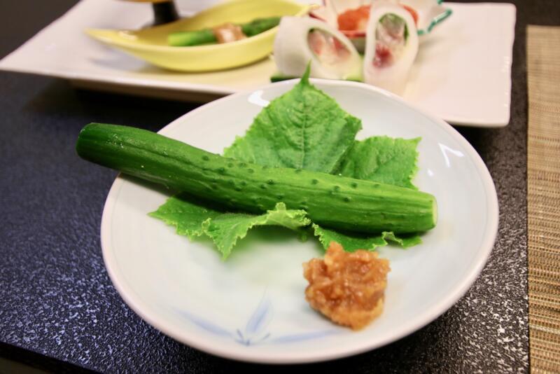 割烹旅館 天地閣の味噌きゅうり