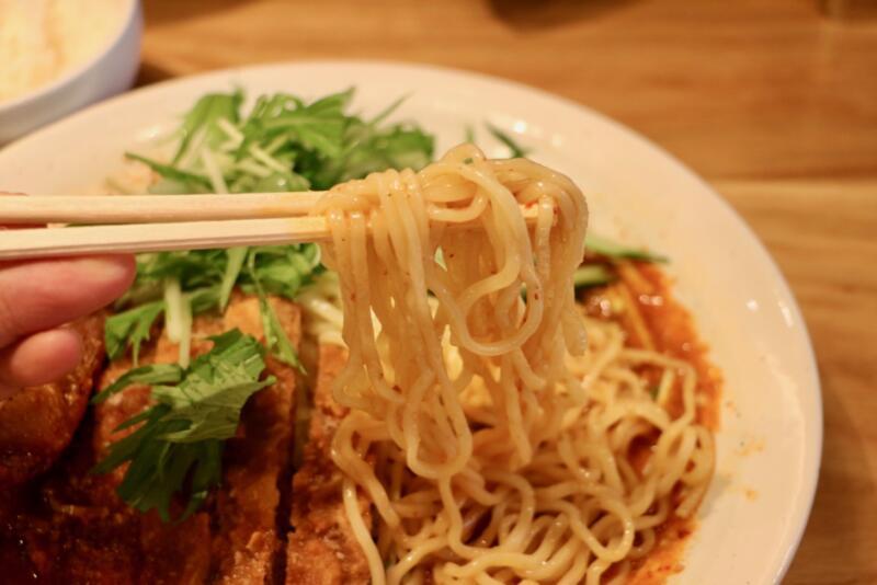 Renge no Gotoku(レンゲ ノ ゴトク)大麦三元豚 排骨冷やし担々麺の麺