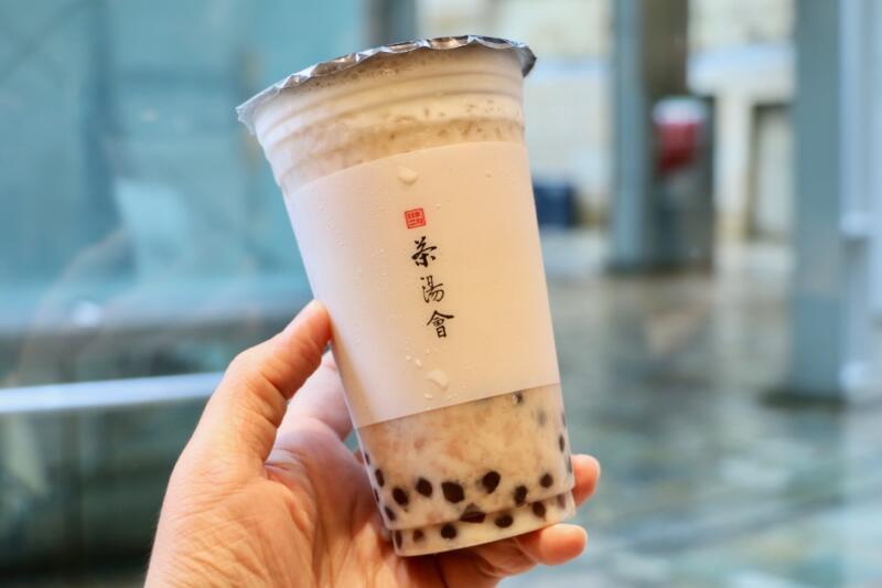 TP TEA 六本木ヒルズ店のタピオカタロイモ翡翠ジャスミンラテ