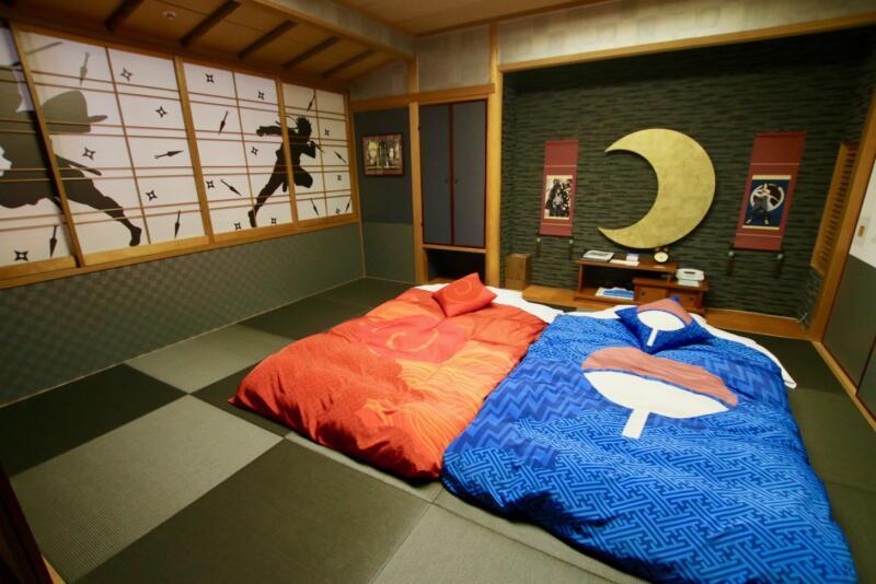 NARUTOの世界観が存分に楽しめる客室