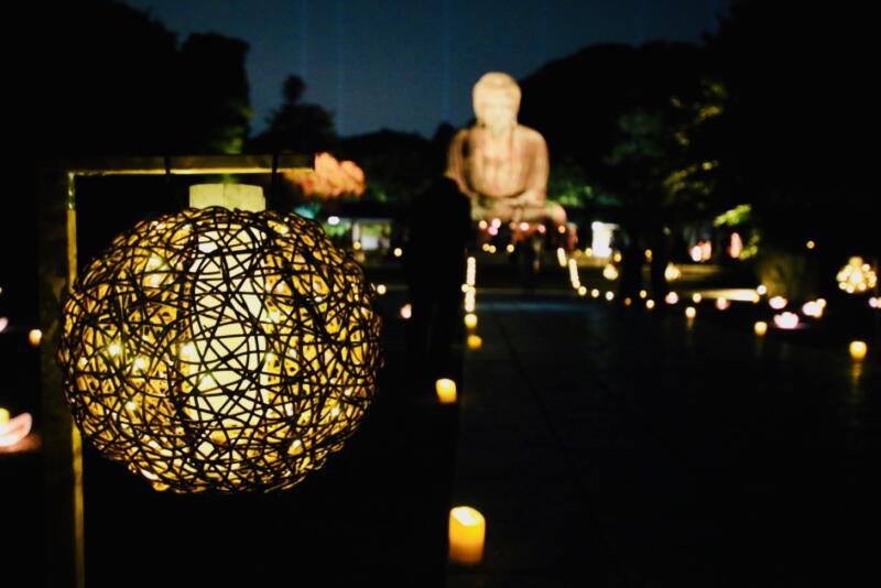 かまくら長谷の灯かり 鎌倉大仏殿高徳院