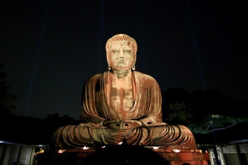 かまくら長谷の灯かり 鎌倉大仏 ライトアップ