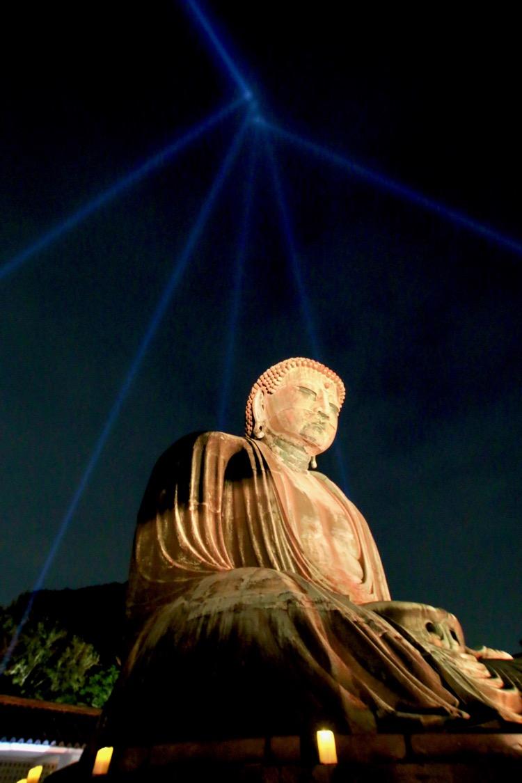 かまくら長谷の灯かり 鎌倉大仏殿高徳院 大仏さまパワースポット