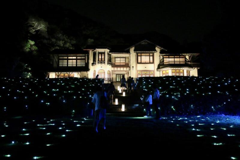 かまくら長谷の灯かり 鎌倉文学館 ライトアップ