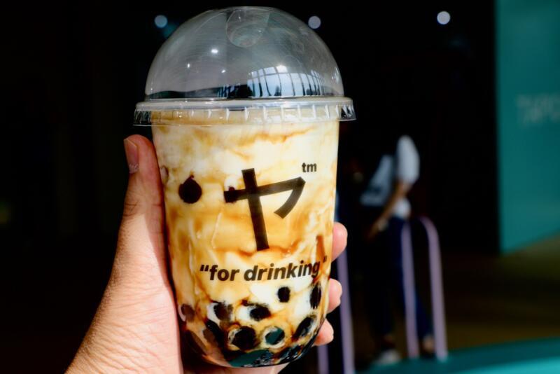 東京タピオカランド 三茶ヤ(さんちゃや)黒糖タピオカミルクラテ(焦がしラテ)