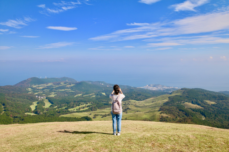 稲取細野高原で秋のすすきイベント 絶景ポイント