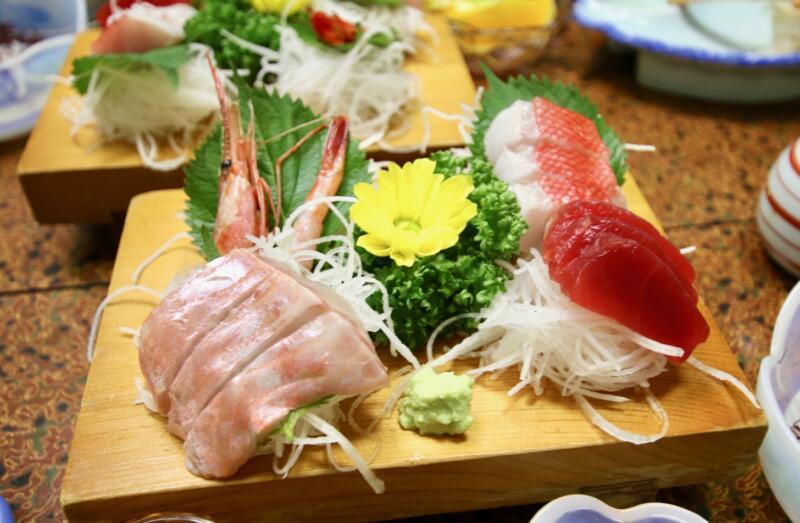 旅館「はまべ荘」稲取キンメの夕食 お刺身