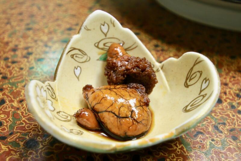 旅館「はまべ荘」稲取キンメの夕食 キンメの卵の煮付け