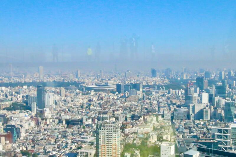 渋谷スクランブルスクエアの展望台・SHIBUYA SKY(渋谷スカイ)からの新国立競技場