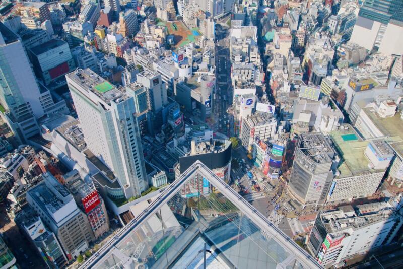 渋谷スクランブルスクエアの展望台・SHIBUYA SKY(渋谷スカイ)からの渋谷スクランブル交差点