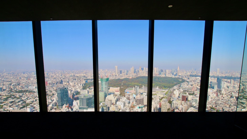 渋谷スクランブルスクエアの展望台・スカイギャラリーからの眺め