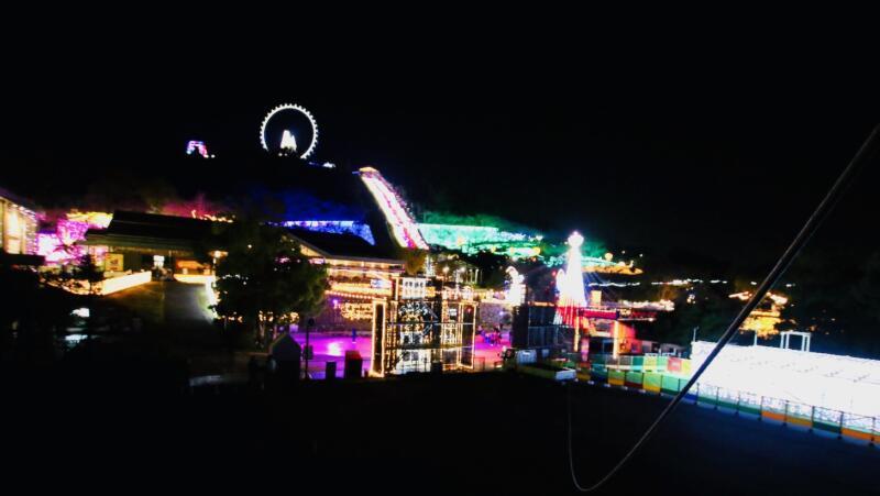 さがみ湖イルミリオン 光の熱気球からの眺め