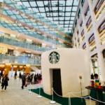 """Starbucks Window"" experience event at Marunouchi KITTE. You can enjoy Starbucks home coffee in the atmosphere of the shop"