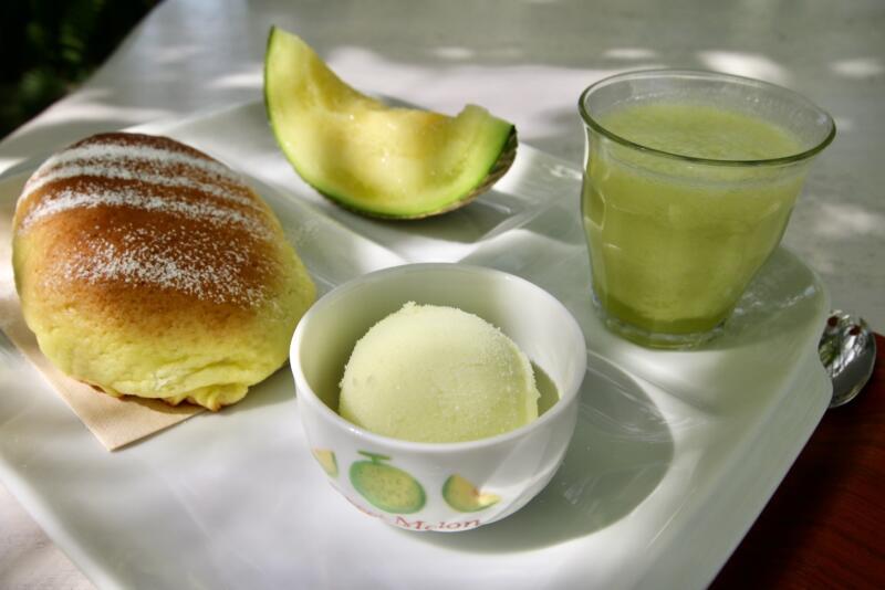 Fruit cafe NiJiのメロンフルコース メロンのシャーベット