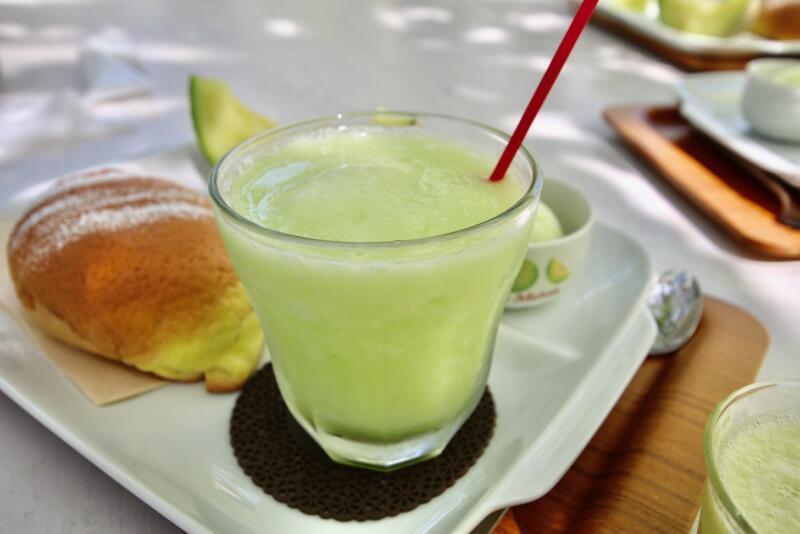 Fruit cafe NiJiのメロンフルコース メロンジュース