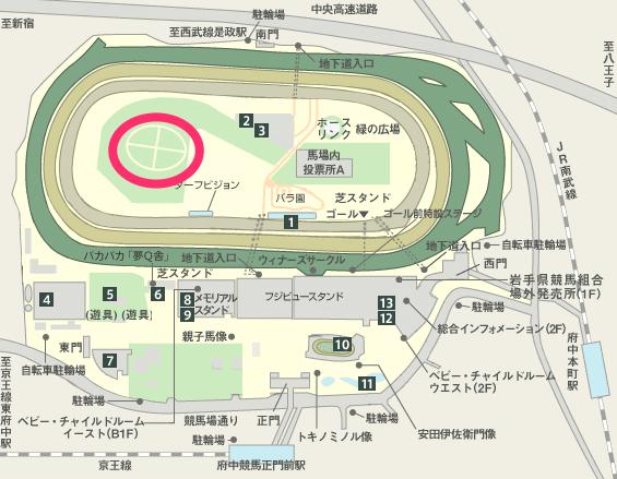 JRA|東京競馬場MAP