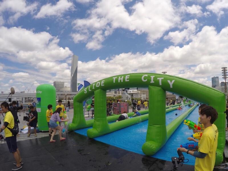 【日本初開催】8月には埼玉開催も!300mのウォータースライダー「スライド・ザ・シティ」を体験してきたよ!