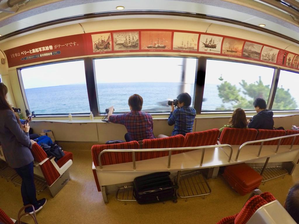 リゾート21「黒船電車」の車窓