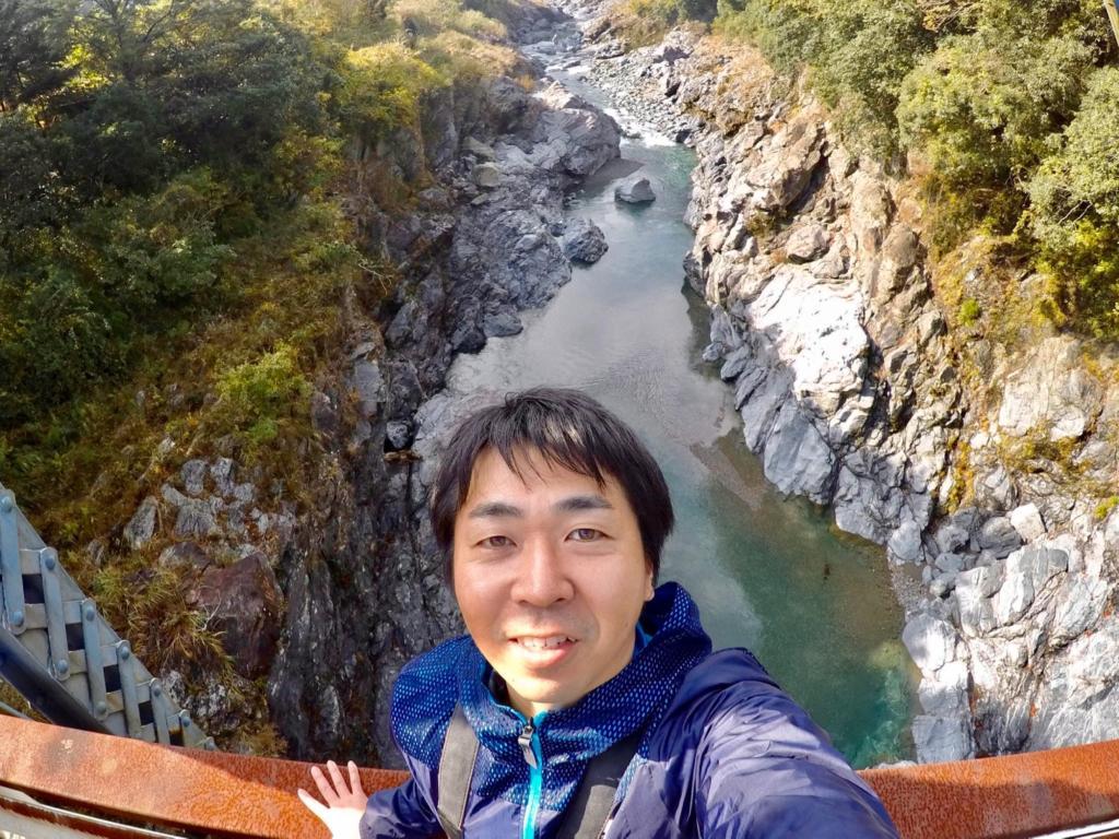 三重県大台町の領内橋からみた宮川