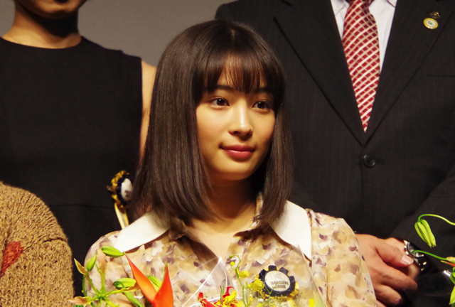 """Hirose Tin """"I think it would be nice to be dyed in various films."""" Best New Actress Award [XNUM X TAMA Film Awards Ceremony 5]"""
