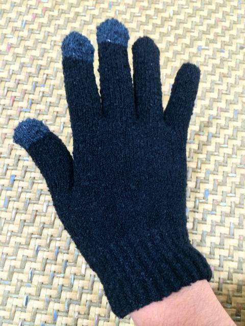 セブンイレブンでリーズナブルなスマートフォン対応手袋を買ってみた