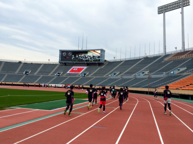 SAYONARA National Stadium Fanlan DAY2013 I have been running on the National Stadium of the Sports Sacred Land!