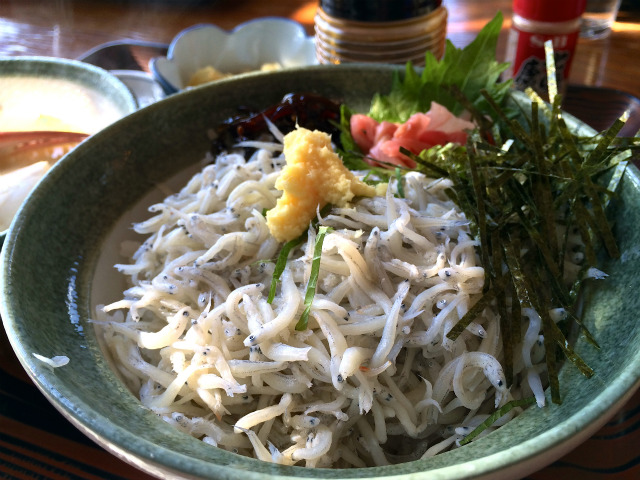【江ノ島】「魚見亭」で太平洋の絶景を眺めながらしらす丼を食す