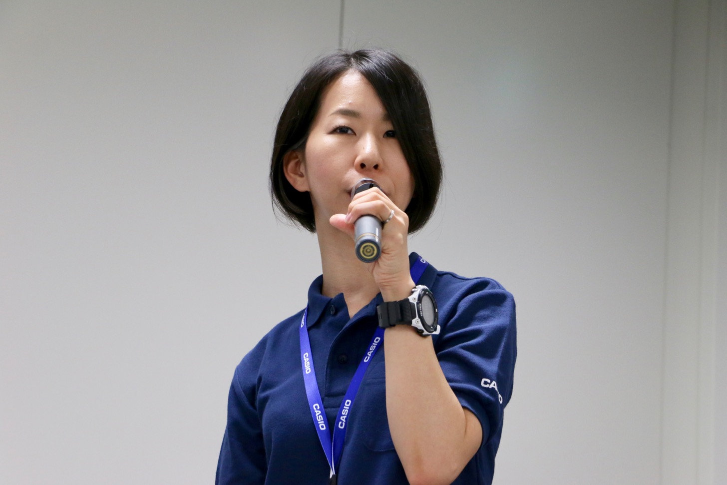 カシオ計算機の岡田佳代さん