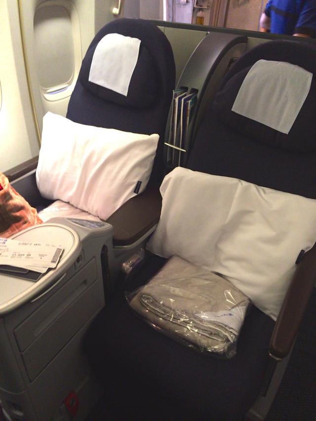 ユナイテッド航空のビジネスクラスでハワイに行ってきた