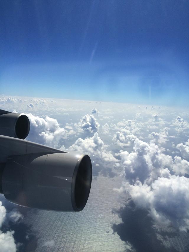 ユナイテッド航空ビジネスクラスからの眺め