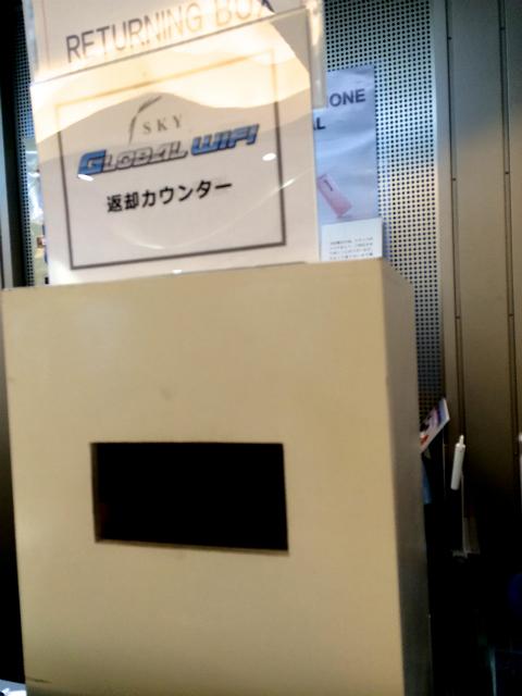 グローバルWiFi成田空港に戻ってからの返却は、到着ロビーにある返却ポスト