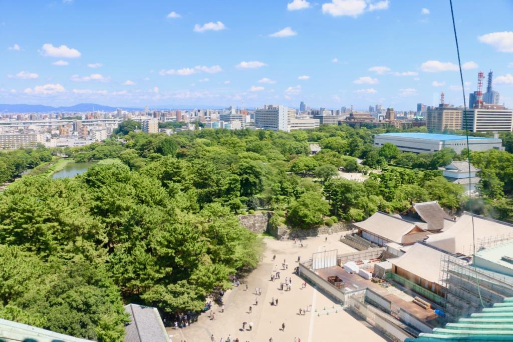 名古屋城天守閣からの眺め