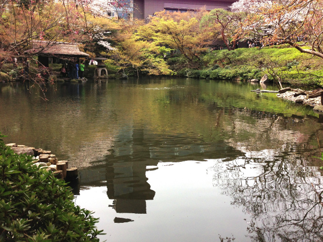日本庭園といえば池
