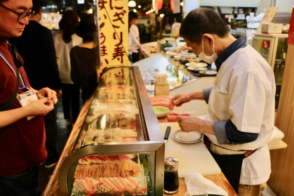 Sushi at the Hirome Market