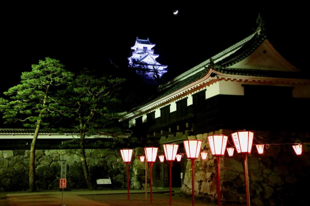 Kochi Castle light up