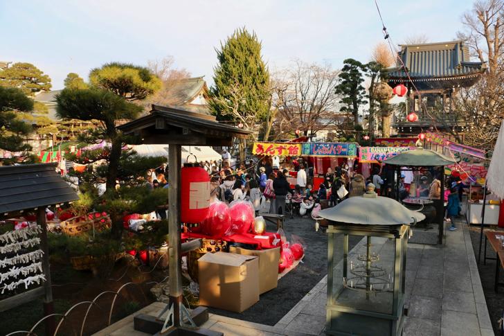 円福寺だるま市