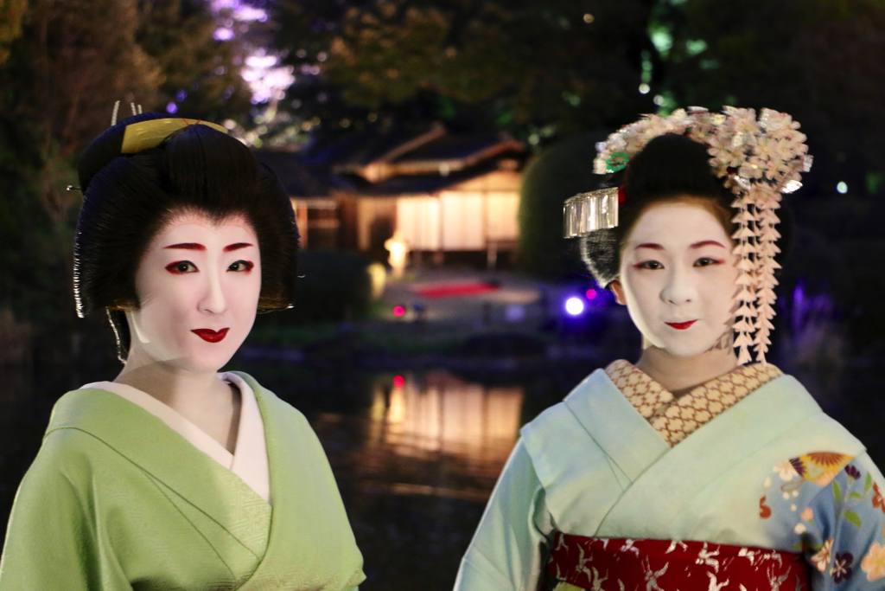 京都祇園の舞妓さんとお茶会!?東京国立博物館でライトアップ夜桜を見ながらプライスレスな体験をしてきた